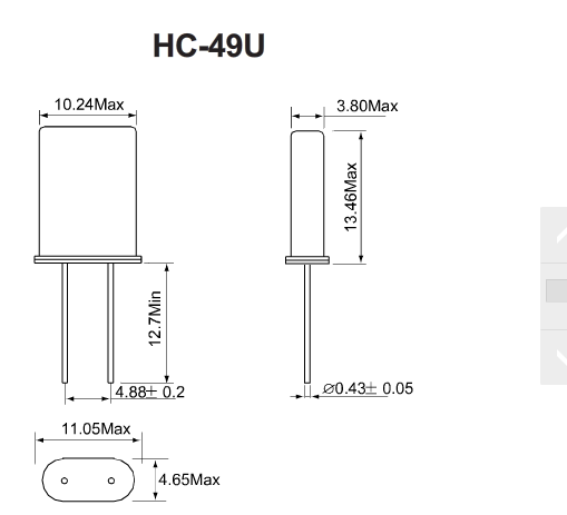 石英晶振封装49s 49u 49smd的区别联系